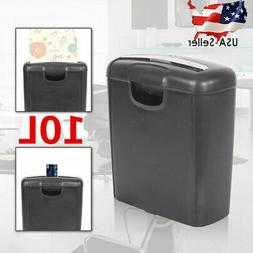 10L Paper Shredder Strip Cut Document Desktop Credit Card Sh