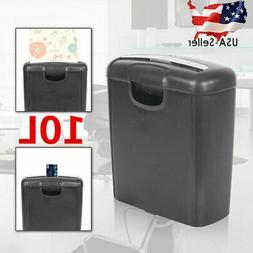 Paper Shredder 10 Liter Strip Cut Document Desktop Credit Ca