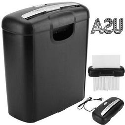 6 sheet Electric Paper Shredder Home Office Strip-cut for Pa