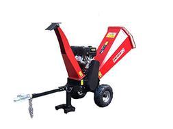 15HP Gasoline Powered Wood Chipper Shredder Mulcher with Ele