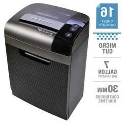 16 sheet micro cut shredder 7 gallon