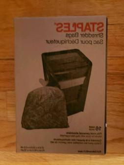 "16 Staples Shredder Bags 15.8 Gallons / 60.0 Liters 27.6"" x"