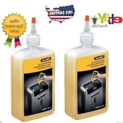 2 pk Fellowes Shredder Oil, 12 oz. Bottle with Extension Noz