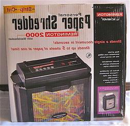 Remington 2000 Strip-Cut Security Paper Shredder w/ Waste ba