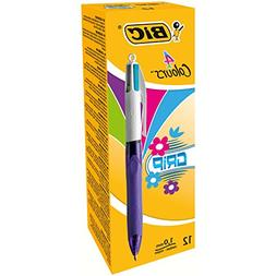BiC 4 Colour Medium Grip Ball Pen_parent Box x 12
