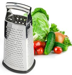 4 Sided Stainless Steel 10 inch Grater For Parmesan Cheese G