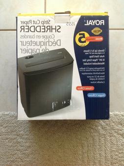 Royal 5 Sheet Strip-cut Desktop Shredder w/Auto Start & Stop