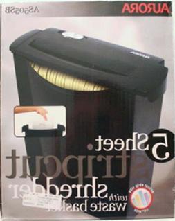 Aurora 5 SHeet Stripcut Shredder with Waste Busket AS505SB