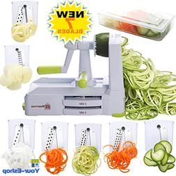 Brieftons 7-Blade Spiralizer: Strongest-and-Heaviest Duty Ve