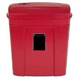 Staples 8 Sheet Cross Cut Shredder, Red - NEW