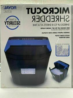 Royal 805MC Micro Cut Paper Shredder Heavy Duty 8 Sheet Micr