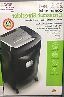 Royal Commercial Grade Crosscut Paper Shredder - Heavy Duty