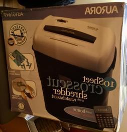 Aurora AS101619 shredder New in box