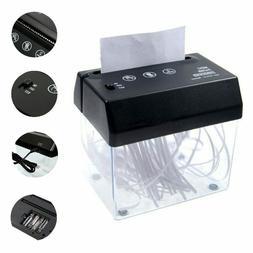 Black ABS Mini USB Battery Powered Paper Shredder Home Offic