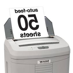 Boxis AutoShred 50-Sheet AutoFeed Tray Microcut Shredder