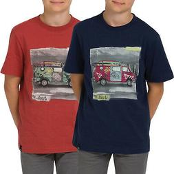 boys youths shredder graphic casual short sleeve