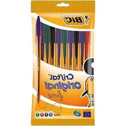 BIC Cristal Original Fine Ball Pens Fine Point  - Assorted C