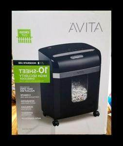 ATIVA CrossCut 10-Sheet High Security Shredder 3.4 Gallon Bi