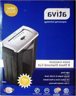 Ativa DQ80M 8 Sheet Diamond-Cut Paper Shredder