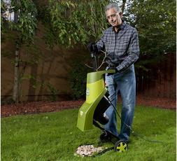 Electric Wood Chipper Shredder Sun Joe Garden Mulcher Outdoo