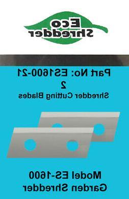 DuroStar  ES1600 Replacement Chipper Shredder Blades For Eco