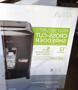 ATIVA HIGH SECURITY CROSS-CUT SHREDDER 12 SHEETS
