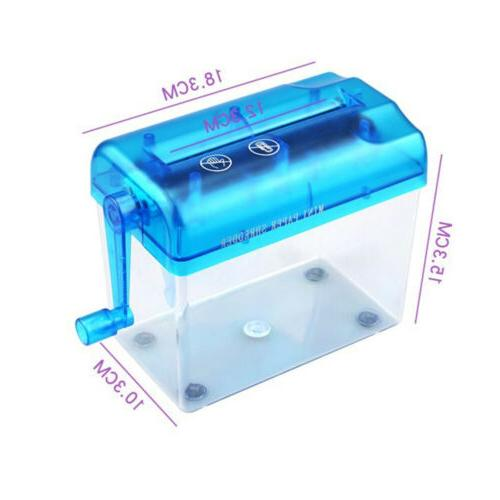 Mini Desktop Manual Paper Shredder Cutting For Paper Easy to Use