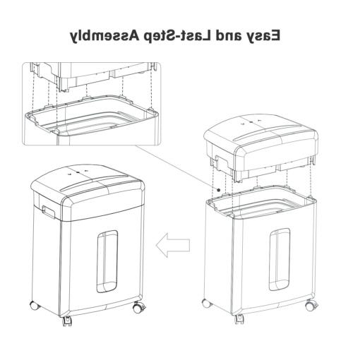 Bonsaii CD/DVD, and Credit Shredder with Pullout