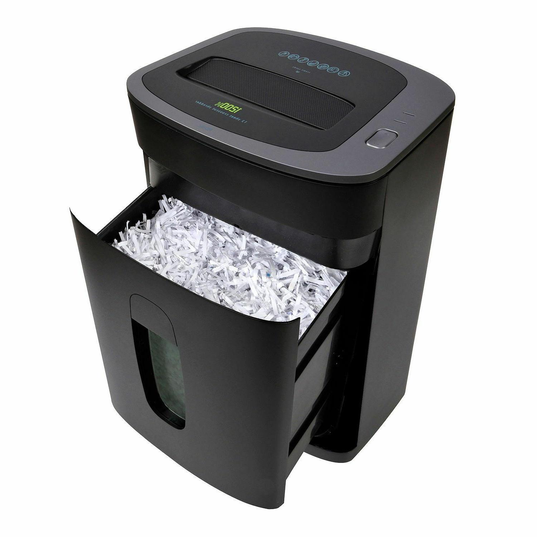 12 sheet cross cut paper shredder heavy