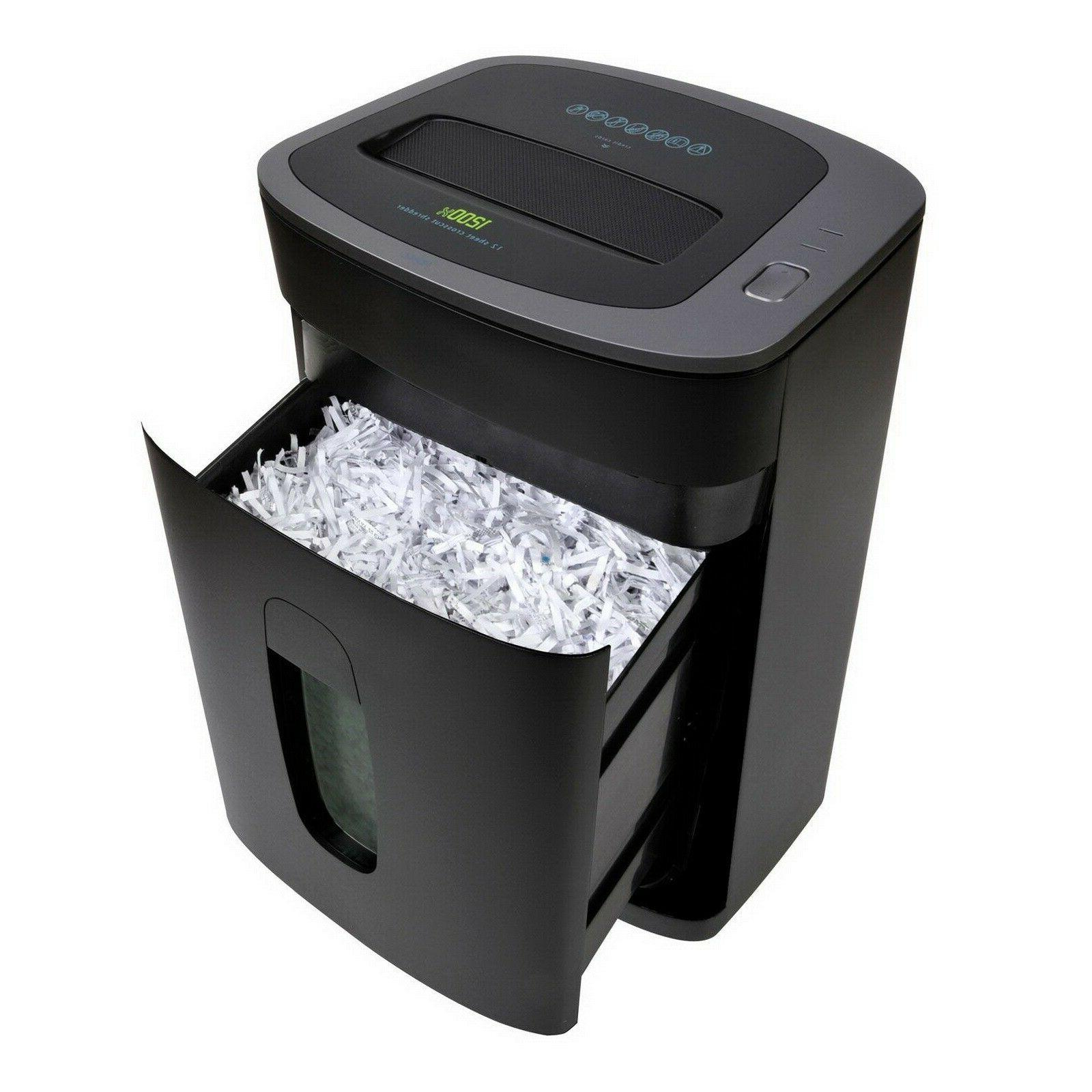 Royal 12 Sheet Paper Shredder Cross Cut 1200X Heavy Duty Ult