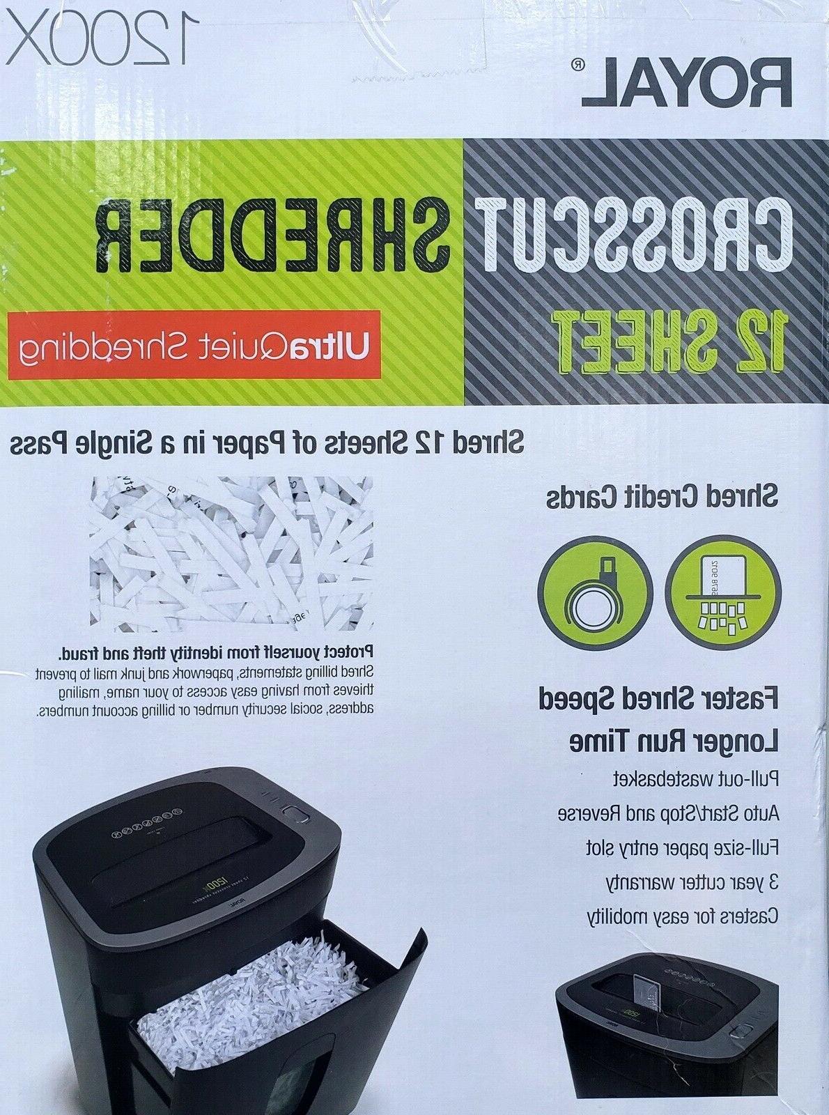 Royal 12 Sheet Paper Shredder Cross Heavy Quiet