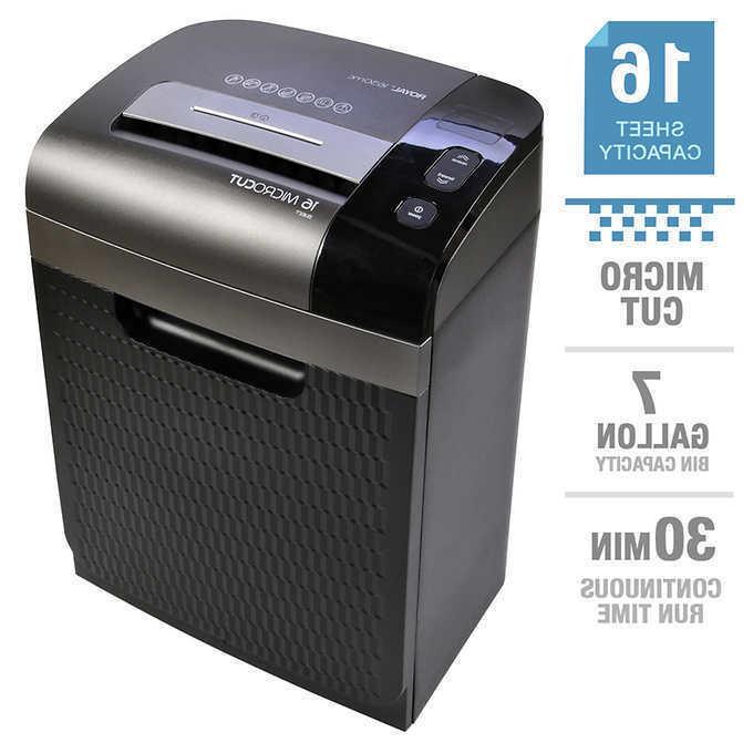 16 sheet micro cut 7 gallon shredder