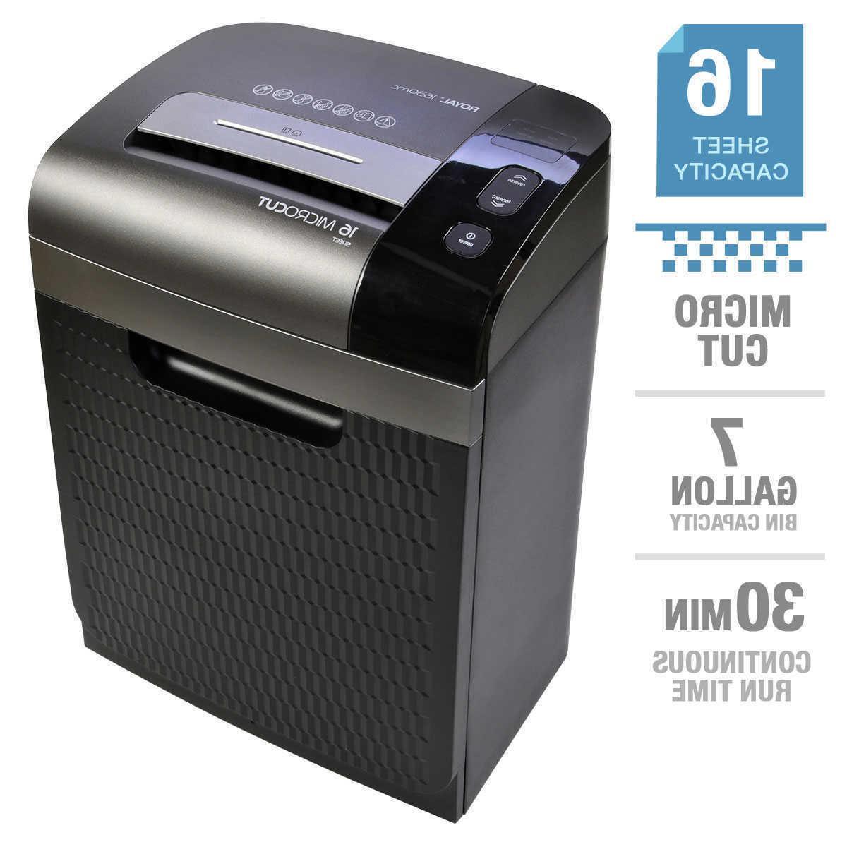 16 sheet micro cut shredder 1630mc