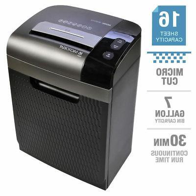 16 sheet microcut shredder 7 gallon pullout