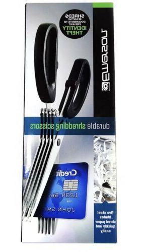 Emerson Durable Shredding Scissors, Five Stainless-Steel Mul