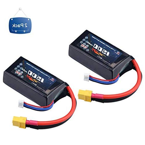 2 packs 40c rc lipo