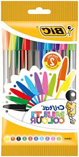 BIC 20 Cristal Multicolour Pen - Assorted Pack of 8