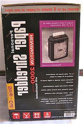 Remington Strip-Cut Paper Shredder basket