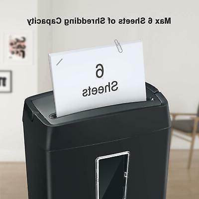 Bonsaii 6-Sheet Shredder, for Office Home Use,