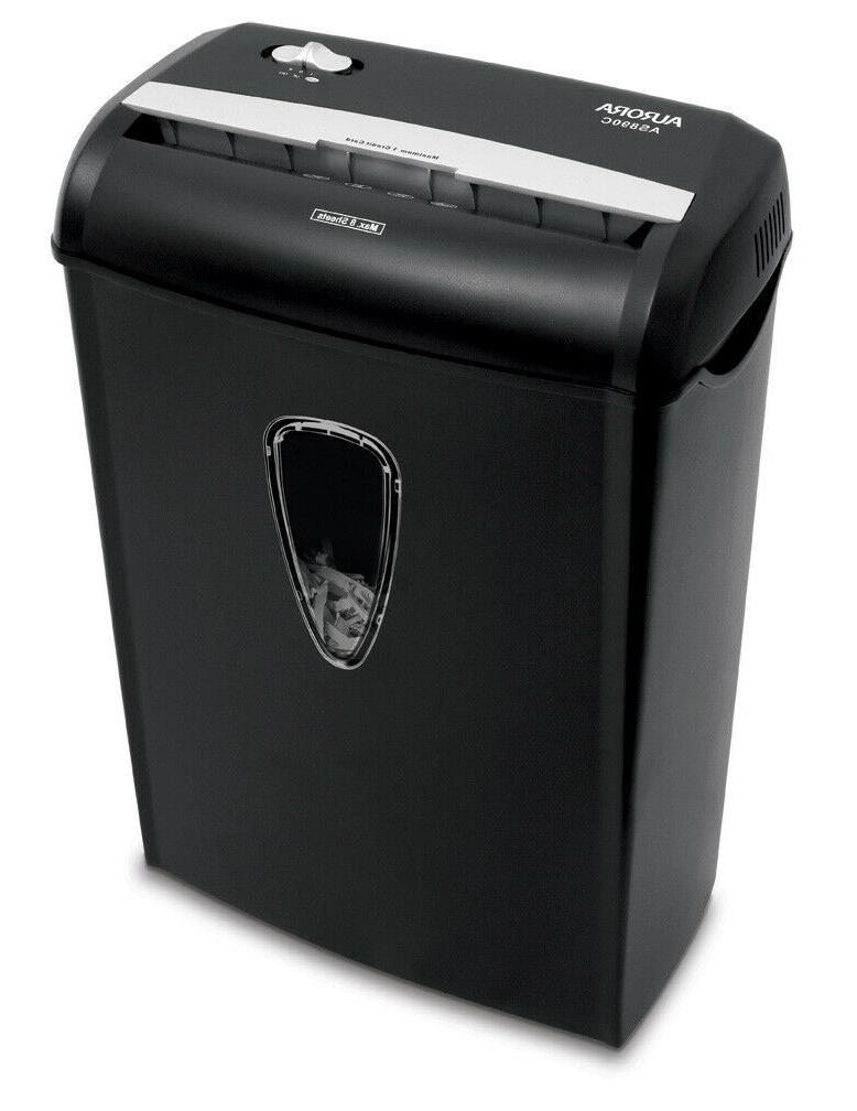 8-Sheet Office Durable credit Shredder Black