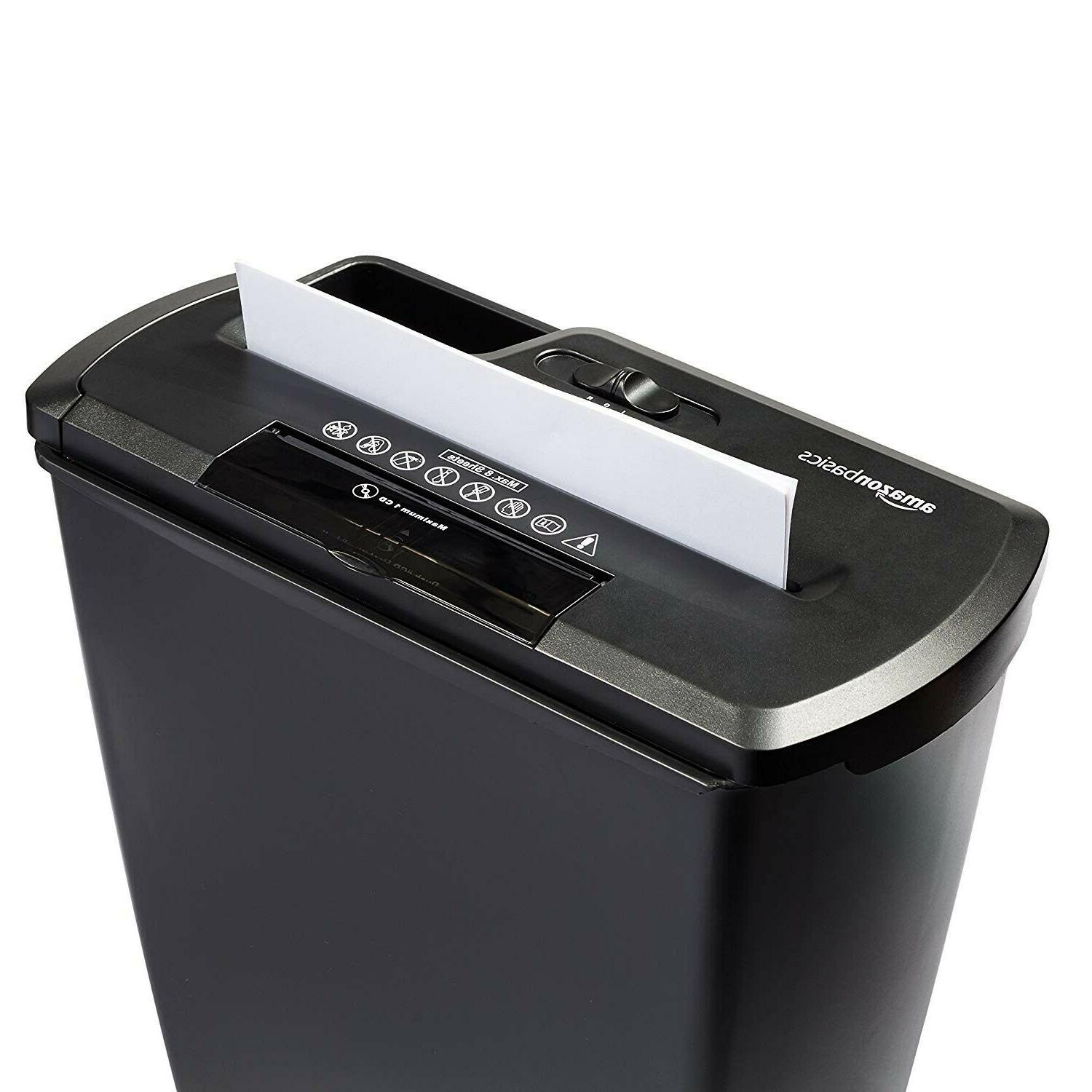 AmazonBasics 8-Sheet Paper, CD Home Office Shredder.