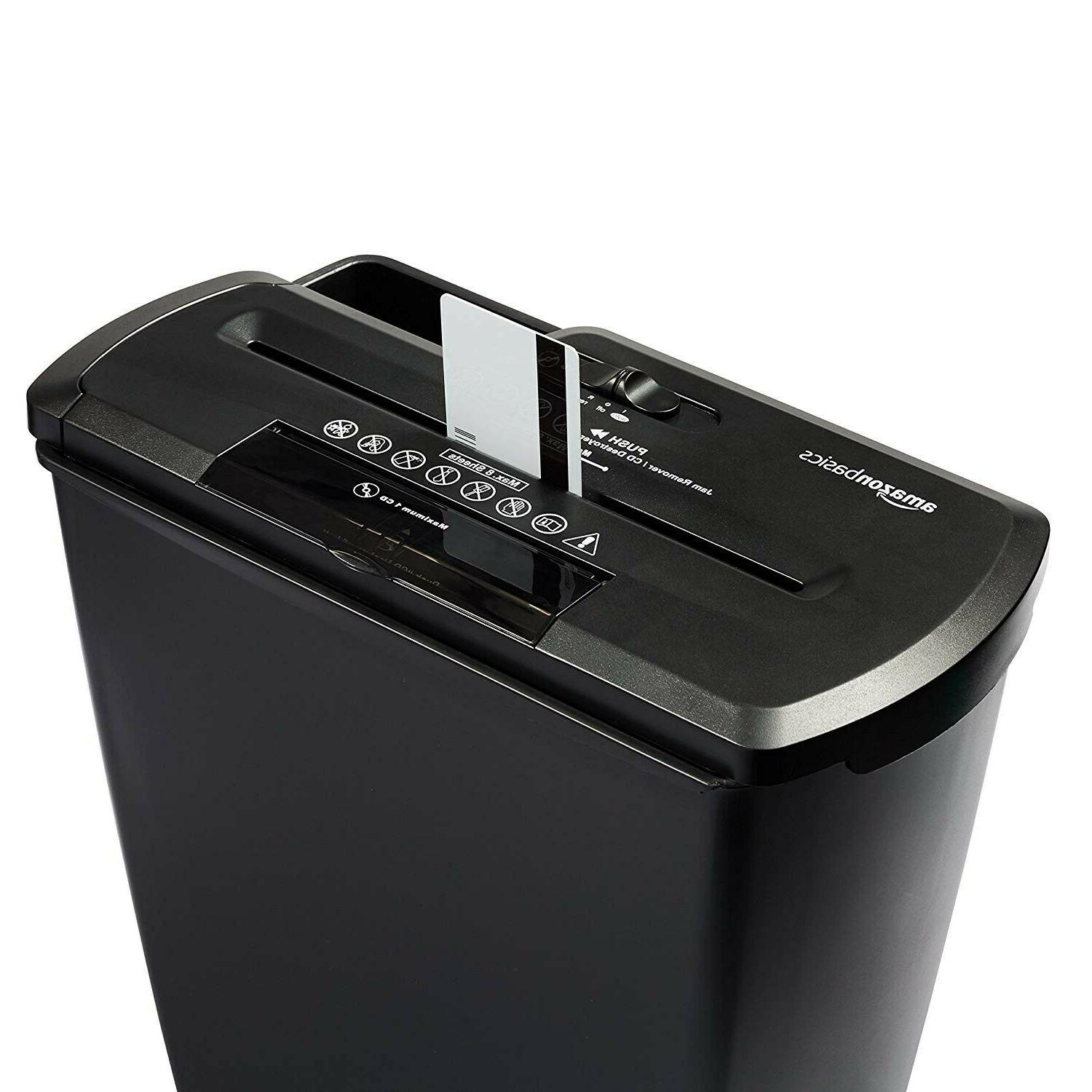 AmazonBasics 8-Sheet CD Card Home Shredder.