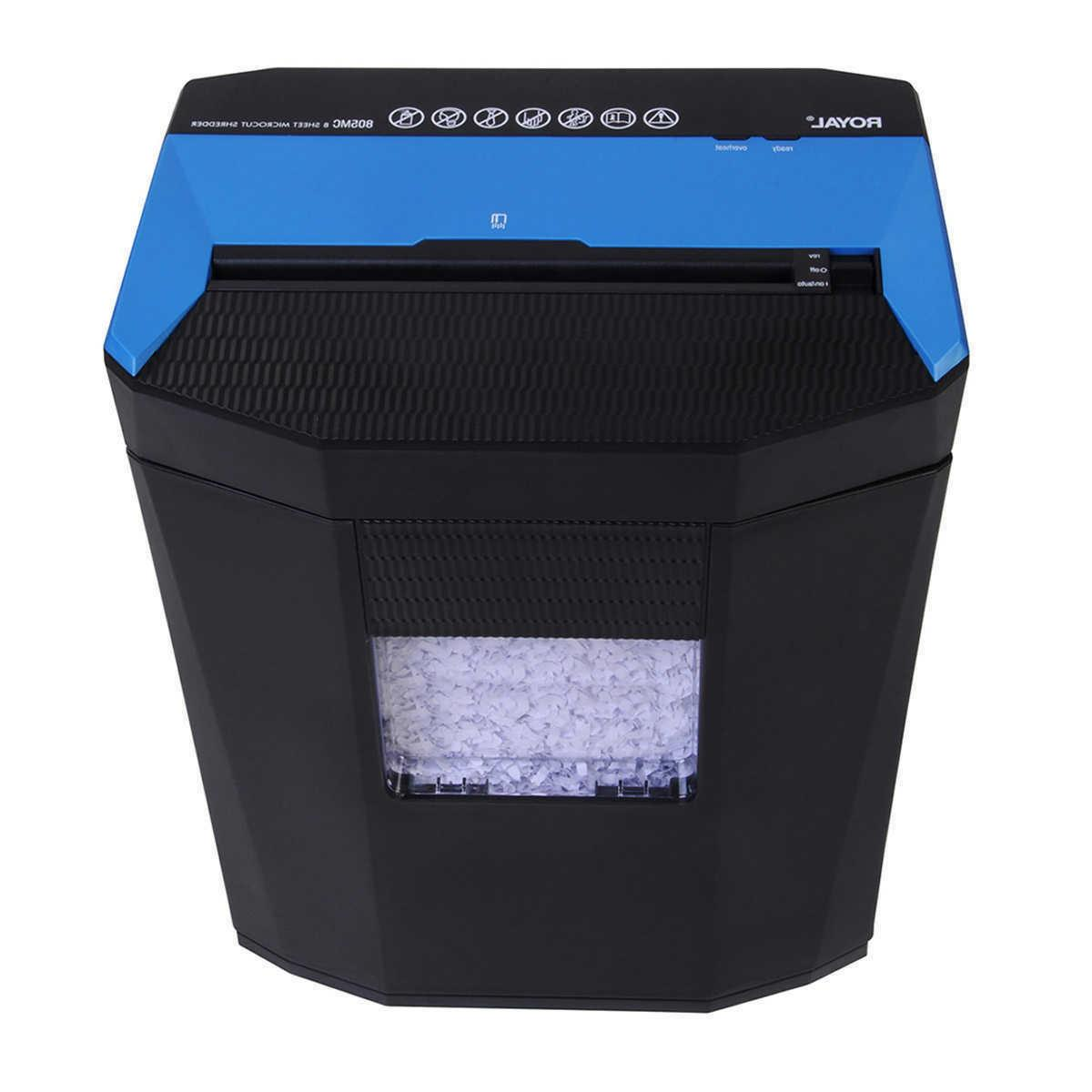 805mc 8 sheet microcut shredder