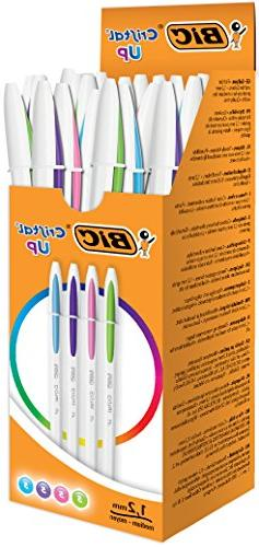 BIC 950446 Cristal Up Ballpoint Pen - Assorted Fashion Colou