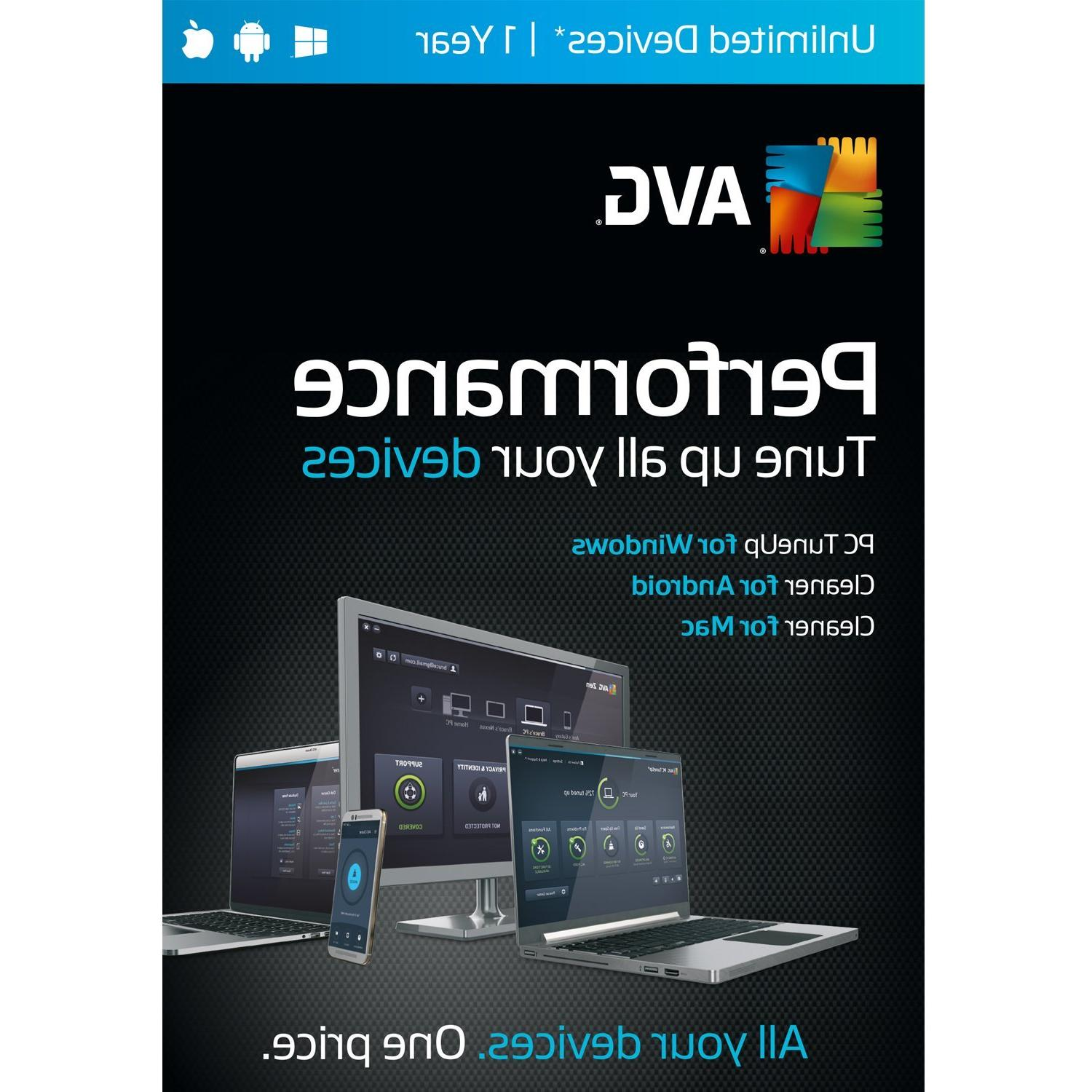 AVG Performance,  UNLIMITED devices  1 Year