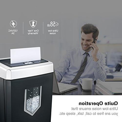Bonsaii EverShred 14-Sheet Heavy Paper Shredder with 30 Minutes Running