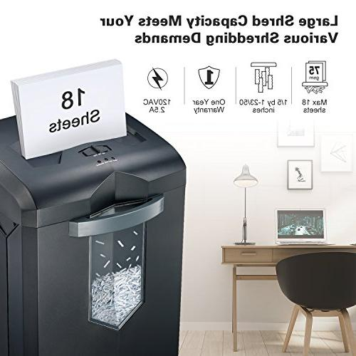 Bonsaii EverShred Heavy Duty Cross-Cut Card Shredder with Gallon 4 Running Time,