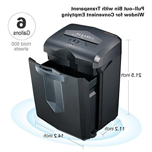 High-Security Micro-Cut Paper Shredder, 60 62 dB Low Noise, Black