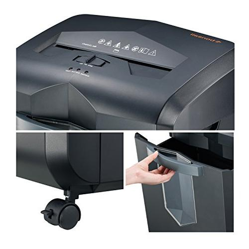 High-Security Paper Shredder, 60 Minutes 62 dB Low Noise, Draw-Out 6 Black