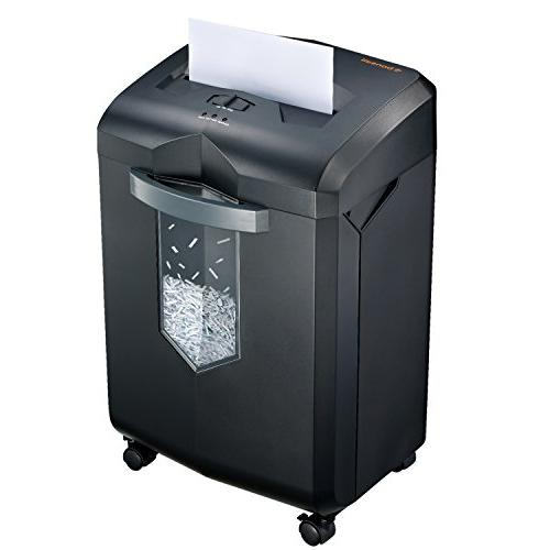 Bonsaii EverShred 18-Sheet Heavy Duty Cross-Cut Card Shredder with Gallon Pullout 4 Minutes Running Time, Black